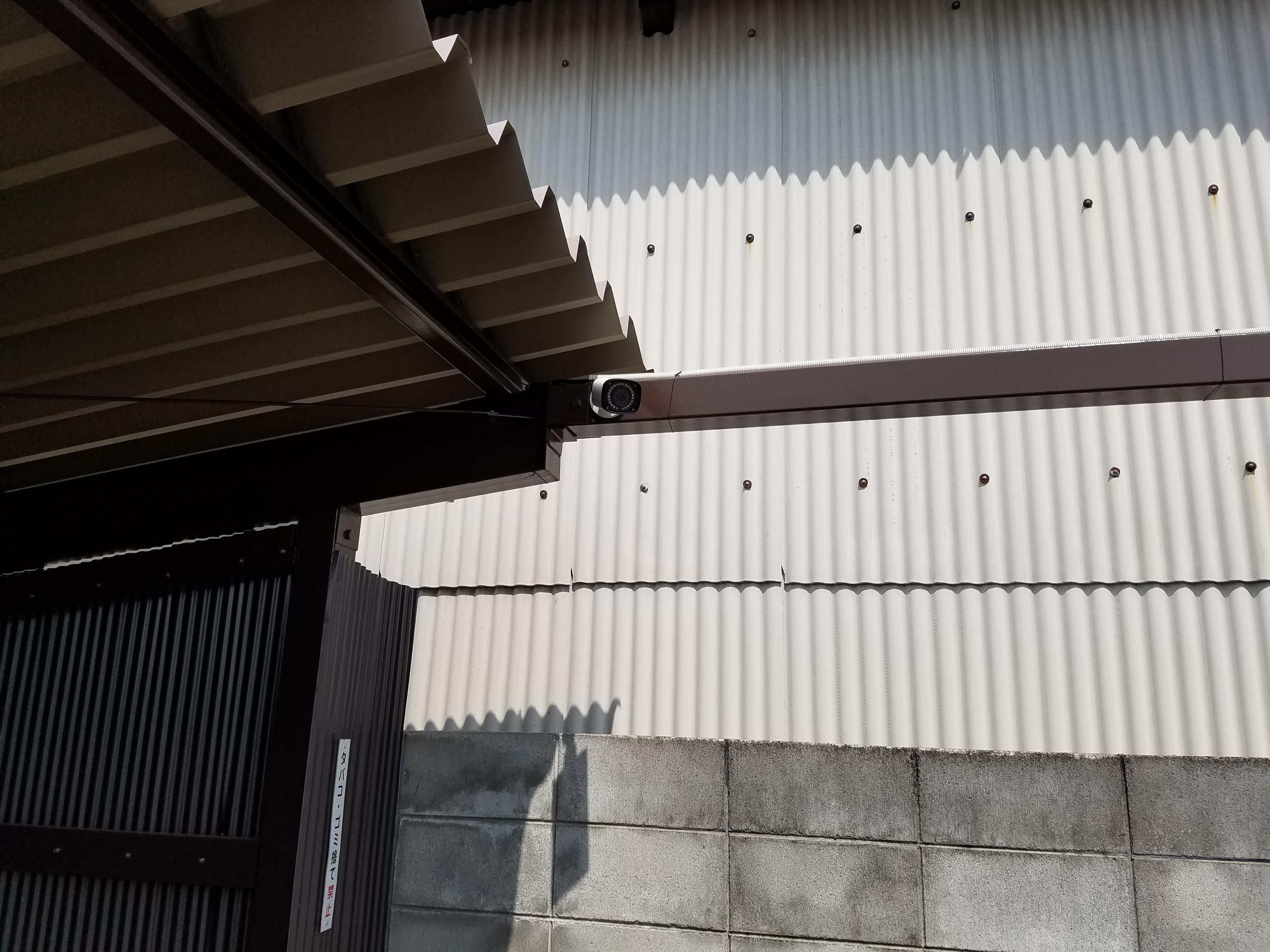 埼玉県 駐車場での防犯カメラシステム