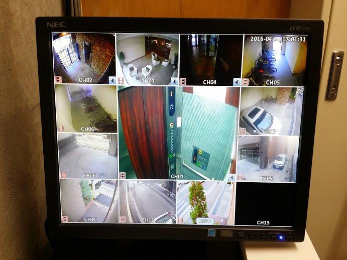 港区 防犯カメラ増設マンション