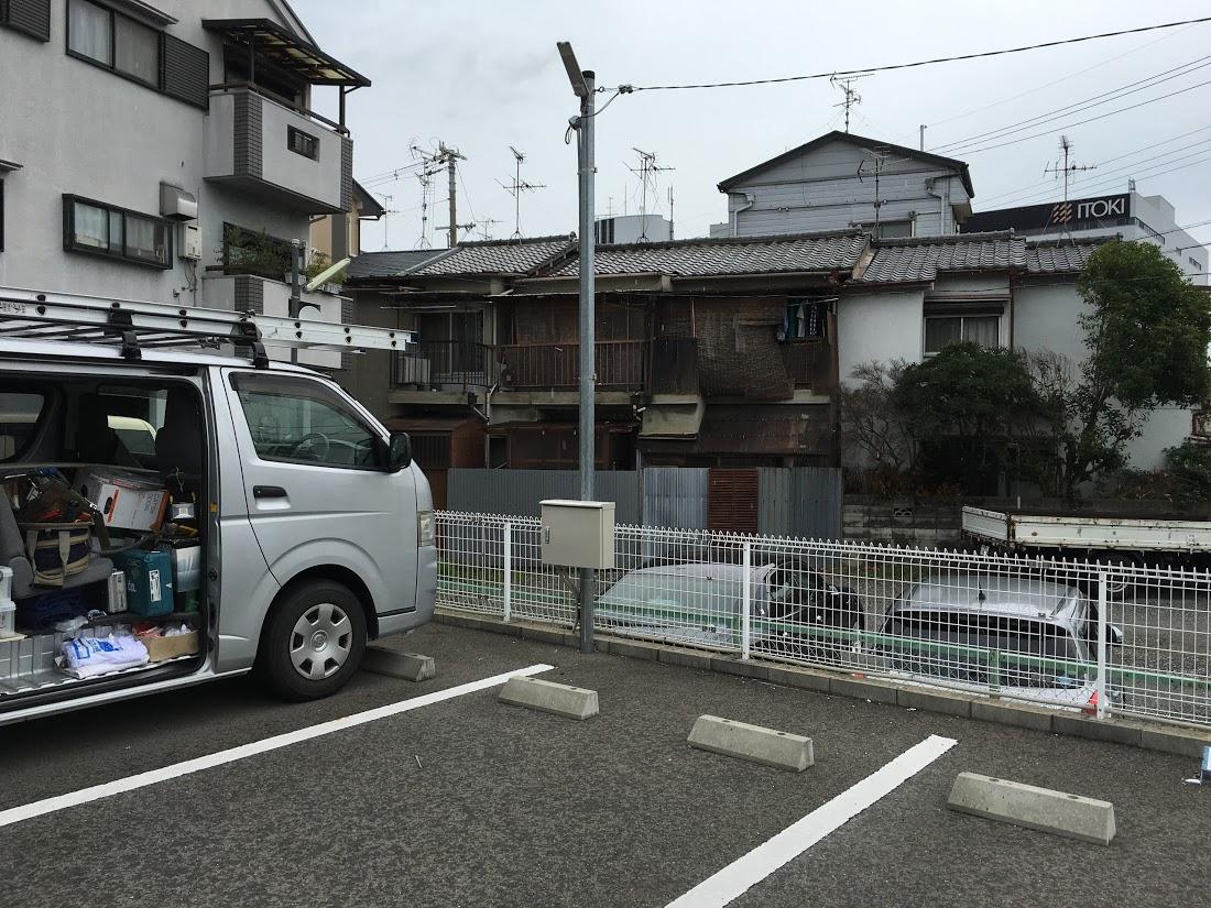 埼玉県 青空駐車場にカメラ1台設置