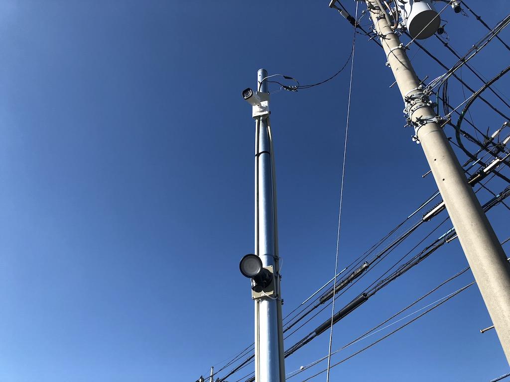 神奈川県 駐車場 防犯カメラ・センラーライト設置