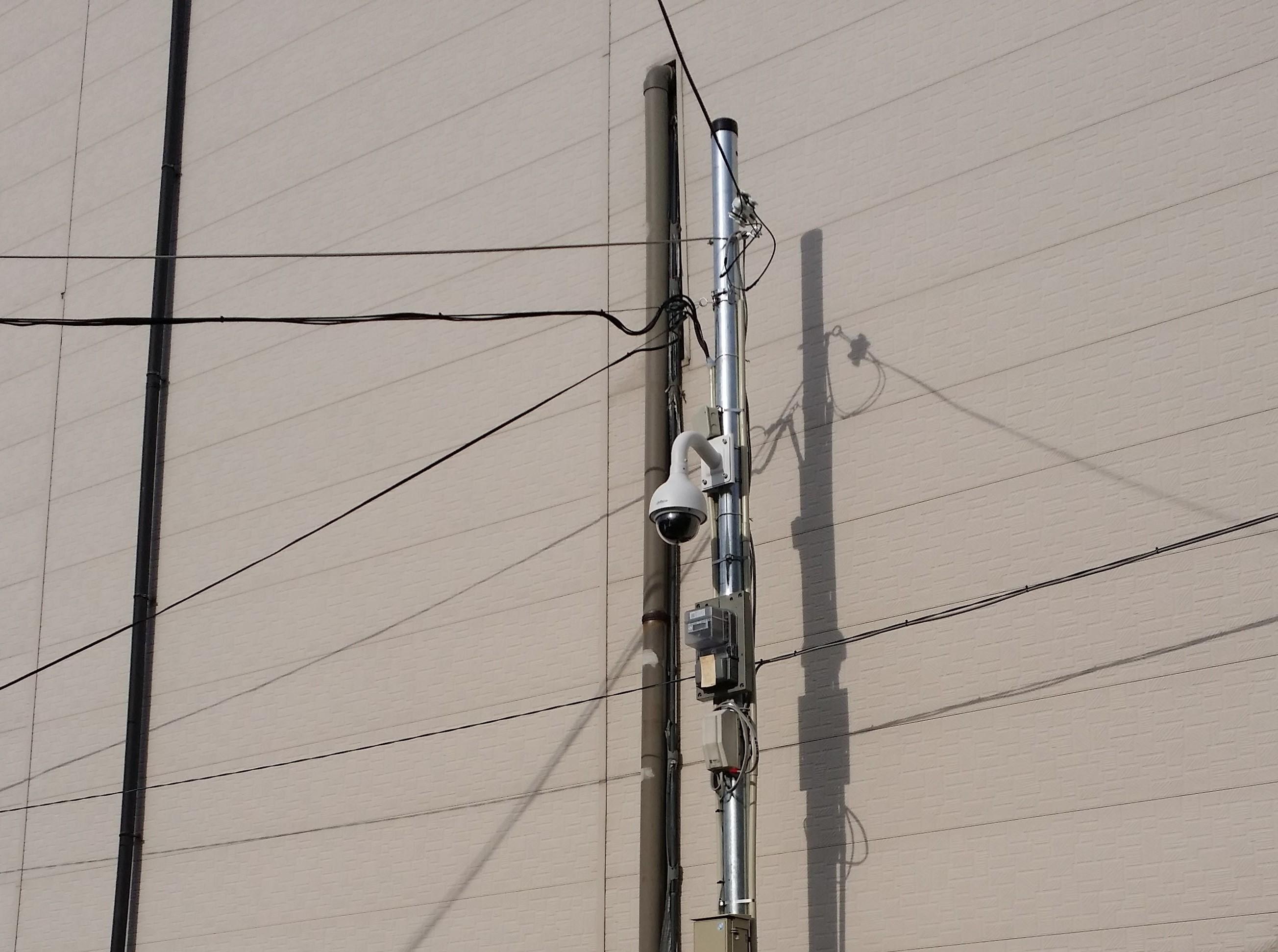 東京都 大型駐車場でのカメラ設置例